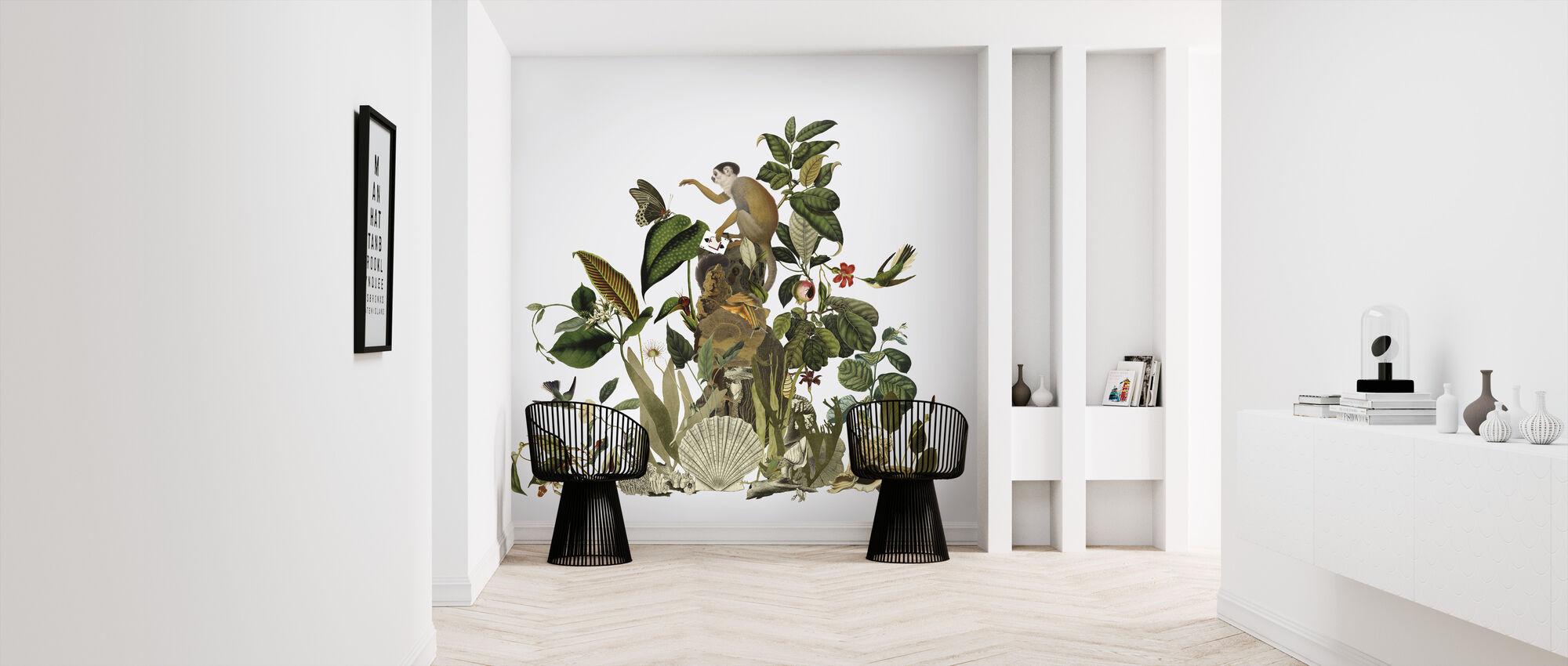 Enchanted - Light Grey - Wallpaper - Hallway
