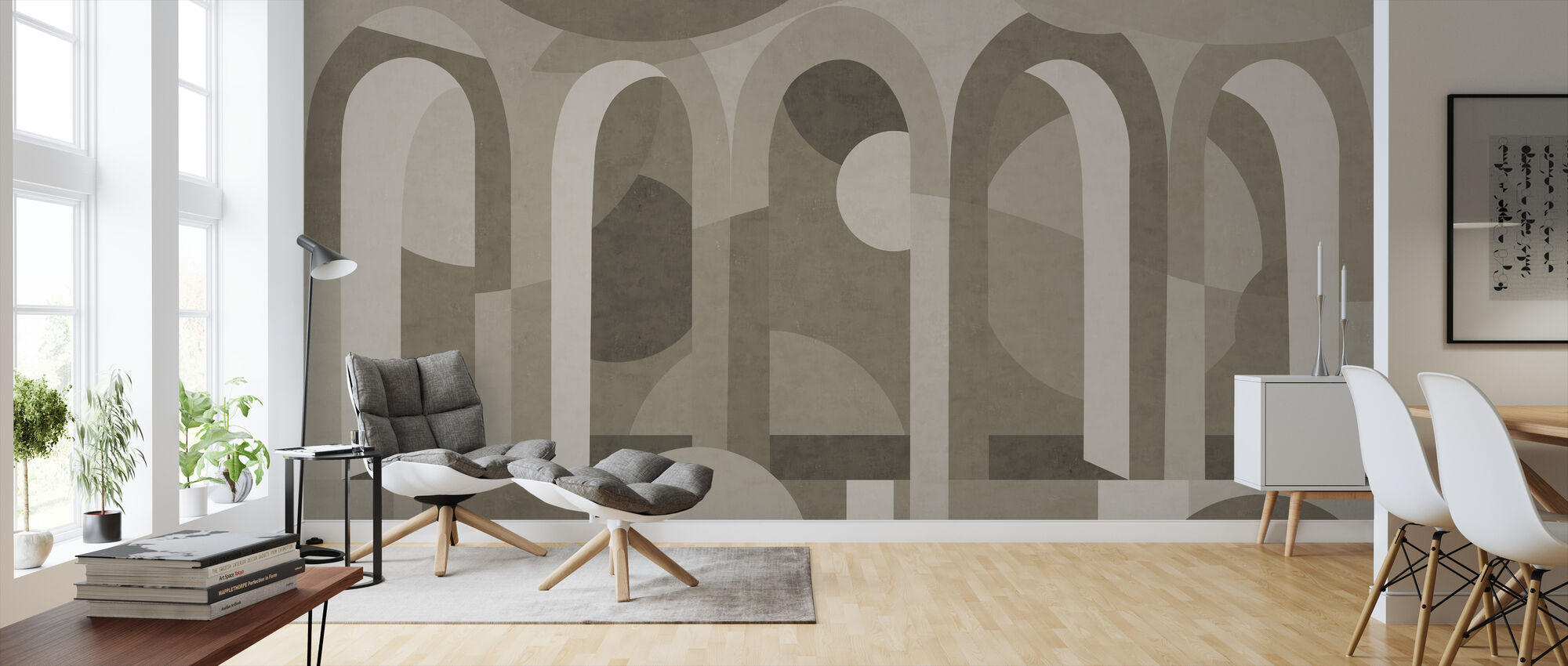 Archform - Shades of Brown - Wallpaper - Living Room