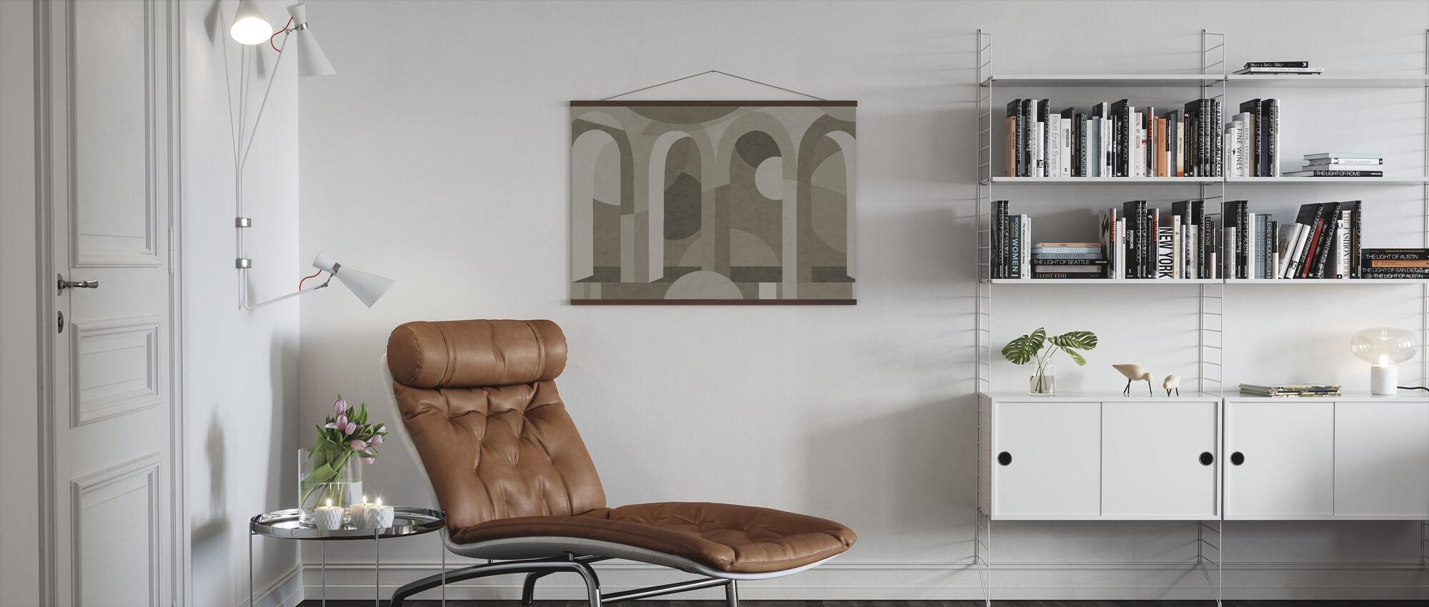 Archform - nyanser av brunt - Plakat - Stue