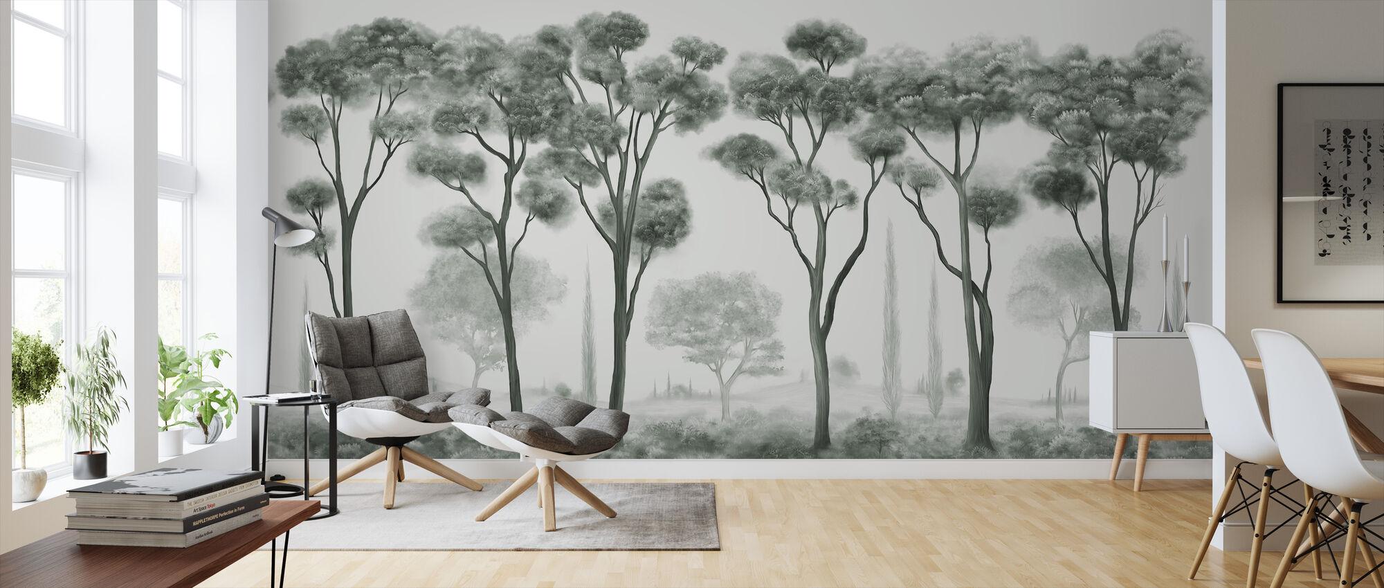 Light and Shade - Green - Wallpaper - Living Room