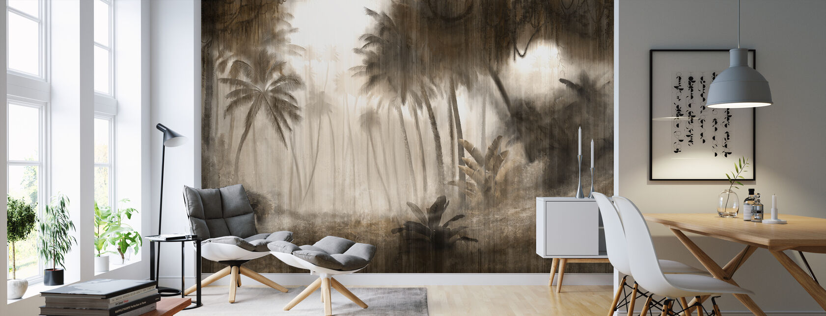 Definitive Tropical - Hazel - Wallpaper - Living Room