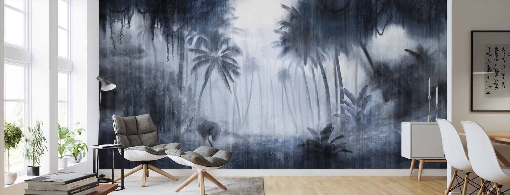 Tropical définitif - Indigo - Papier peint - Salle à manger
