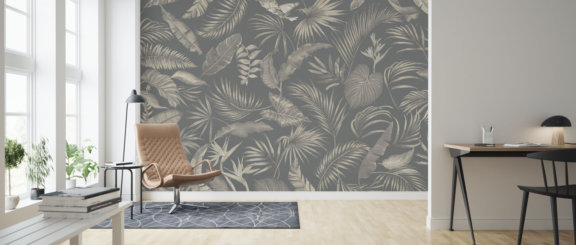 Living Amazonia - Green - Wallpaper - Living Room