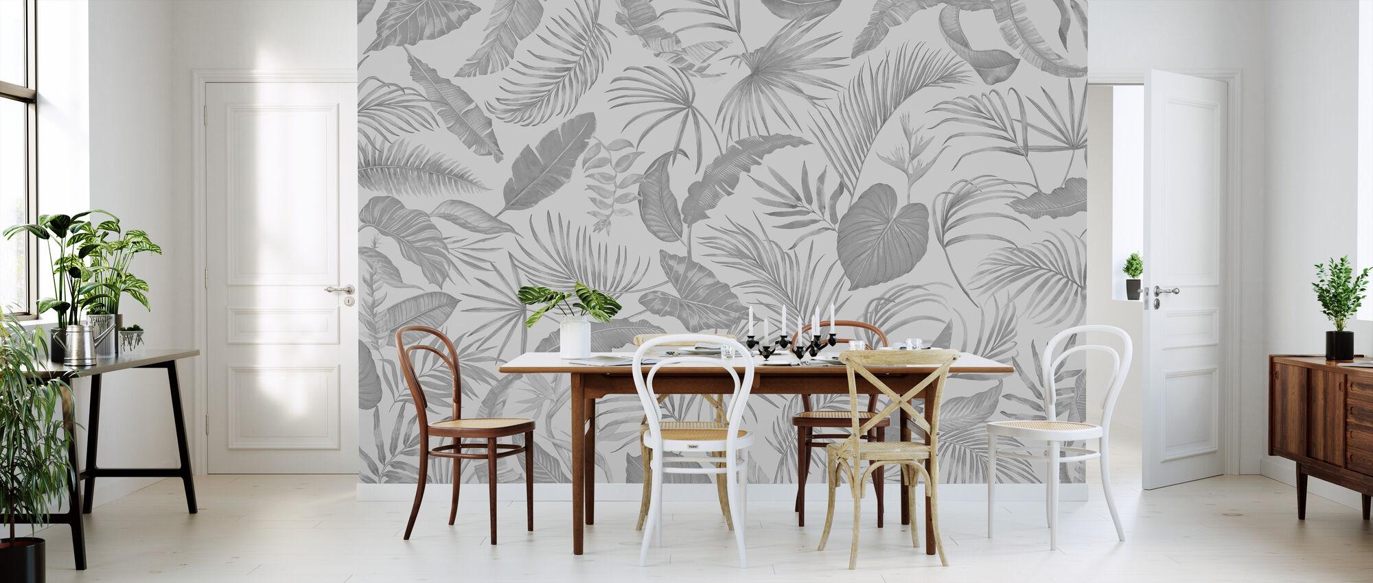 Living Amazonia - Grey - Wallpaper - Kitchen