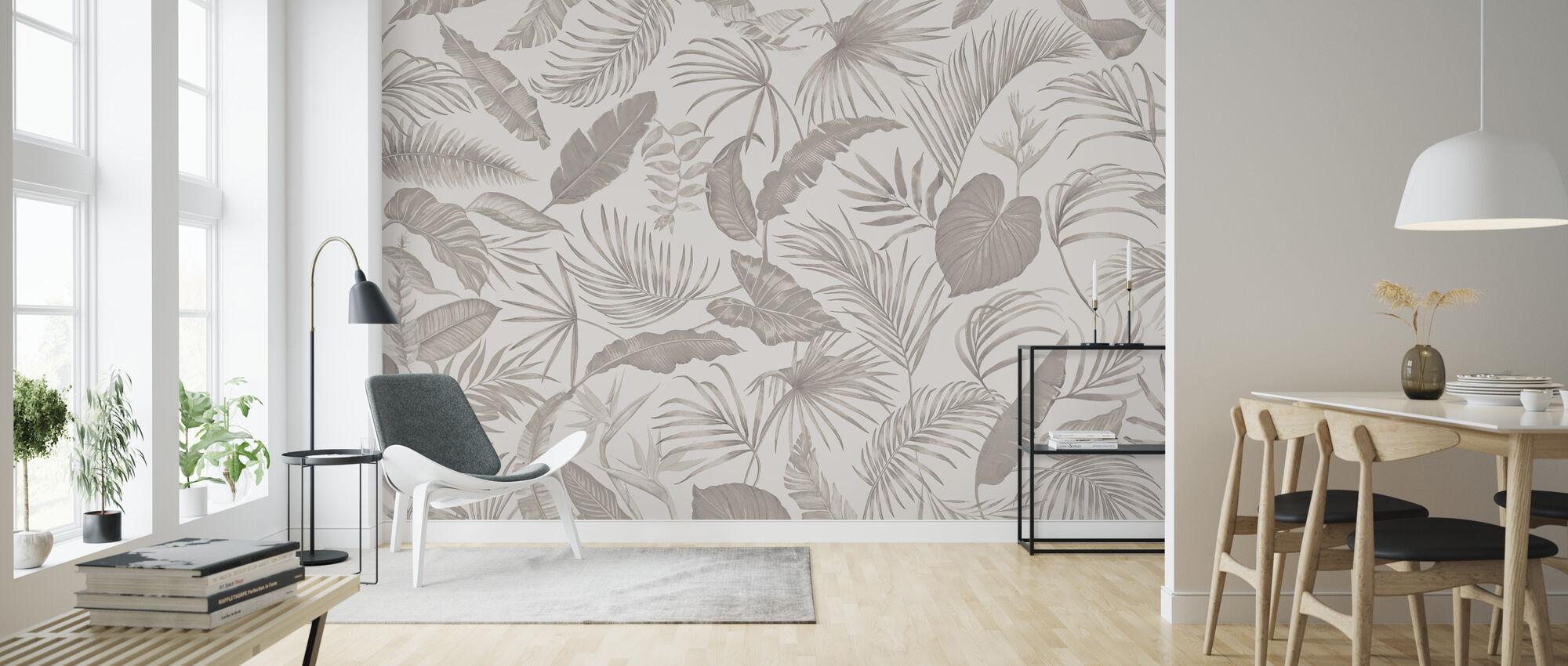 Living Amazonia - Soft Brown - Wallpaper - Living Room