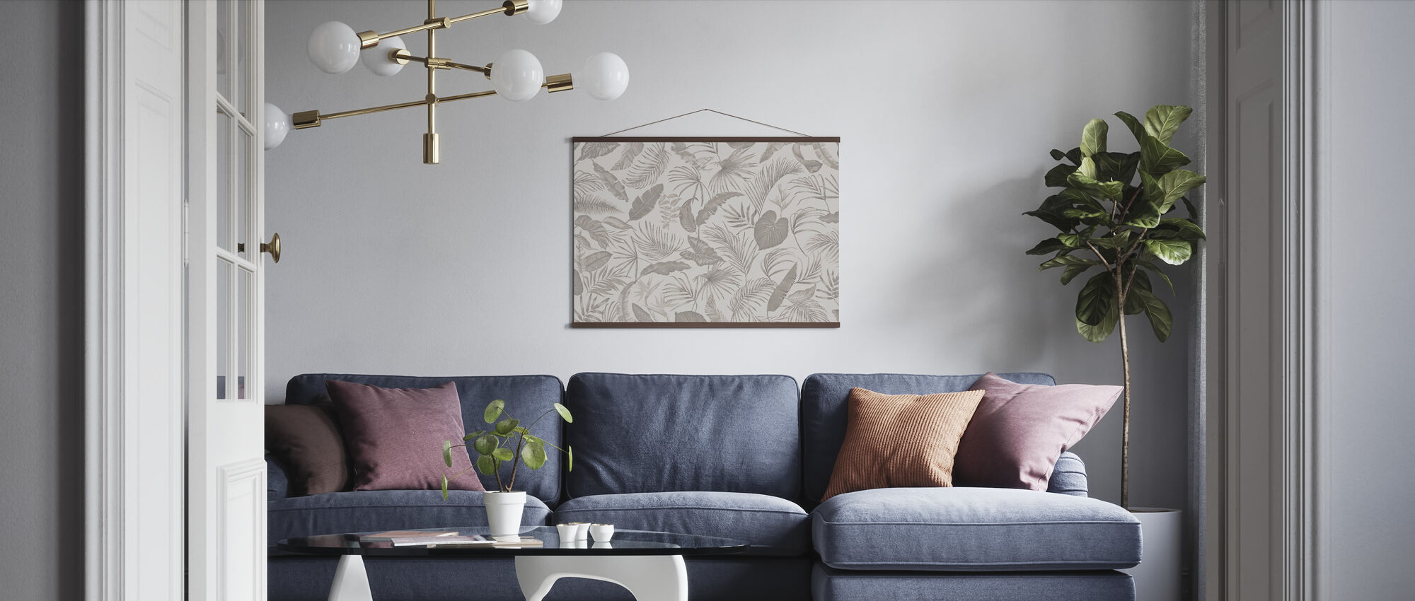 Living Amazonia - Soft Brown - Poster - Living Room
