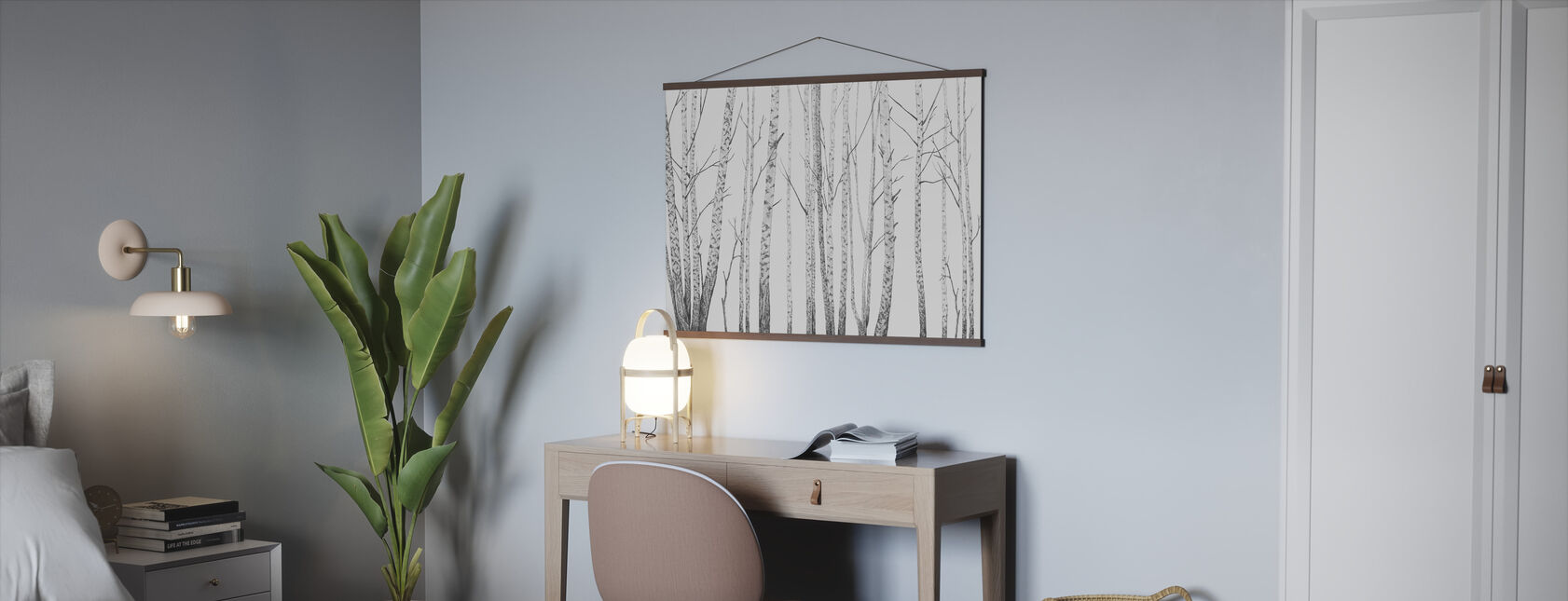 Birch Stems - bw - Poster - Office