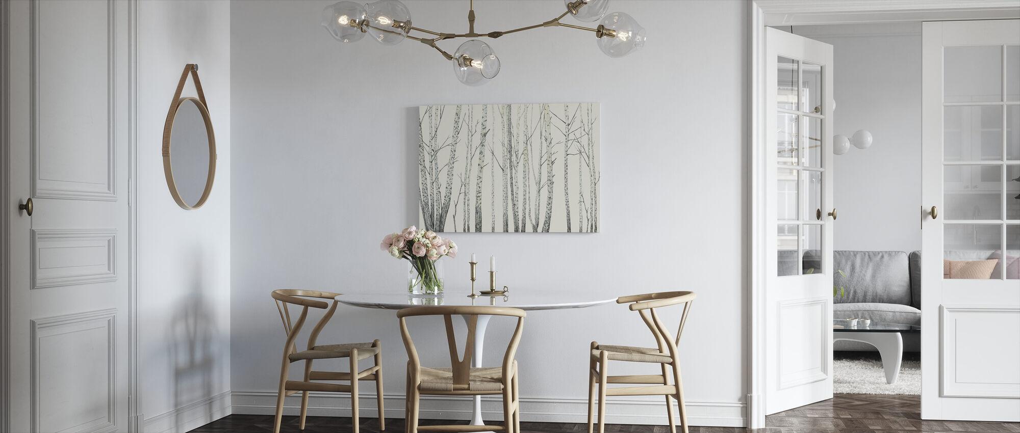 Birch Stems - Cream - Canvas print - Kitchen