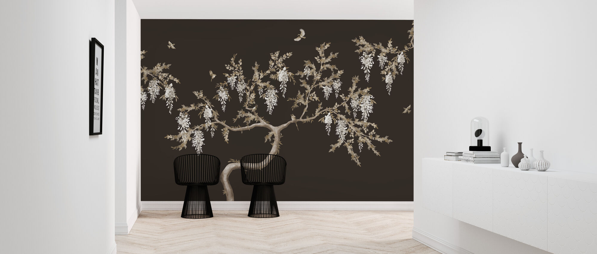 Ineffable Tree - Brown - Wallpaper - Hallway