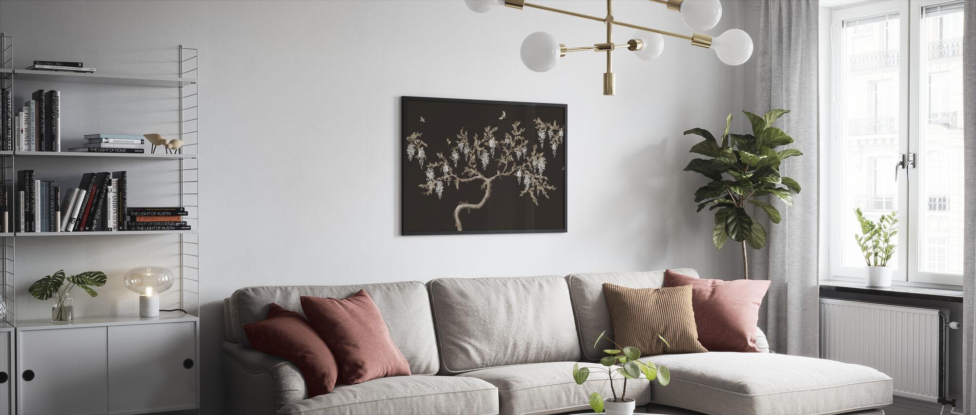 Ineffable Tree - Brown - Framed print - Living Room