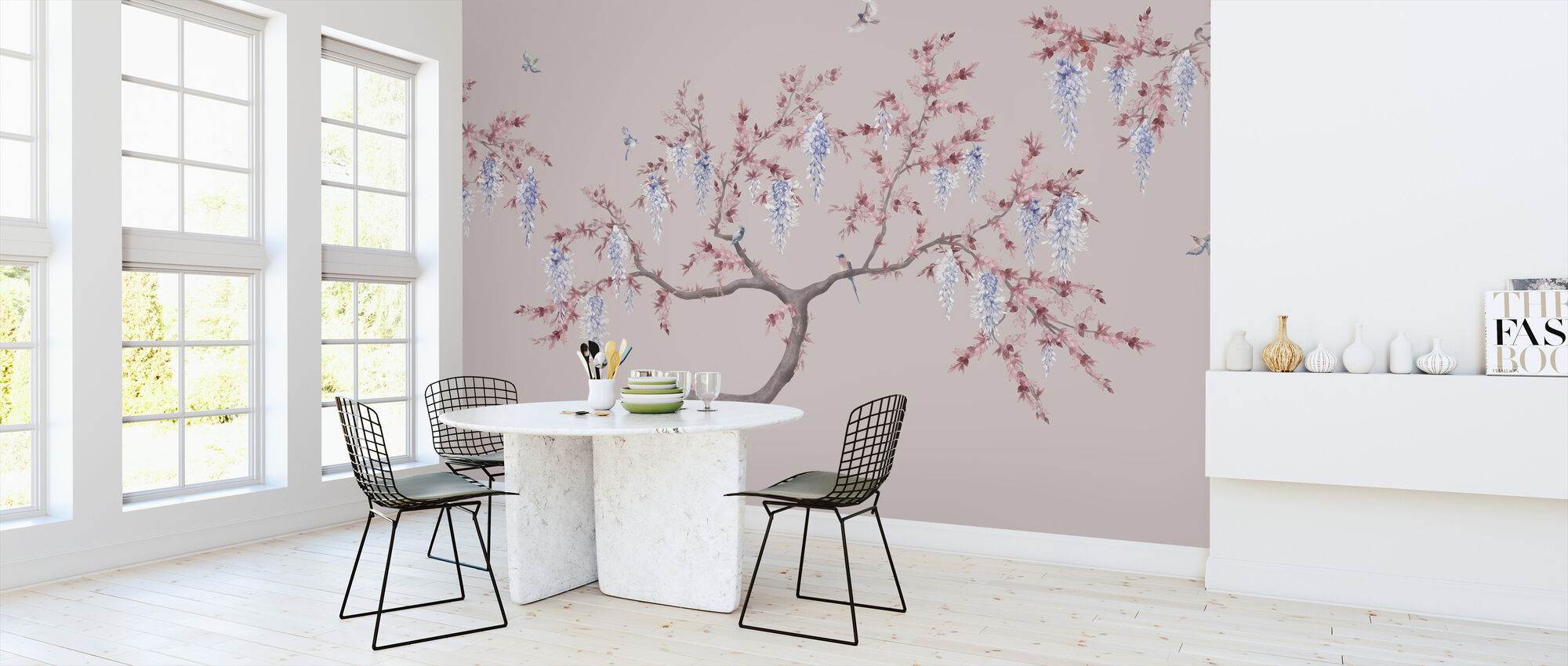 Ineffable Tree - Pink Blue - Wallpaper - Kitchen