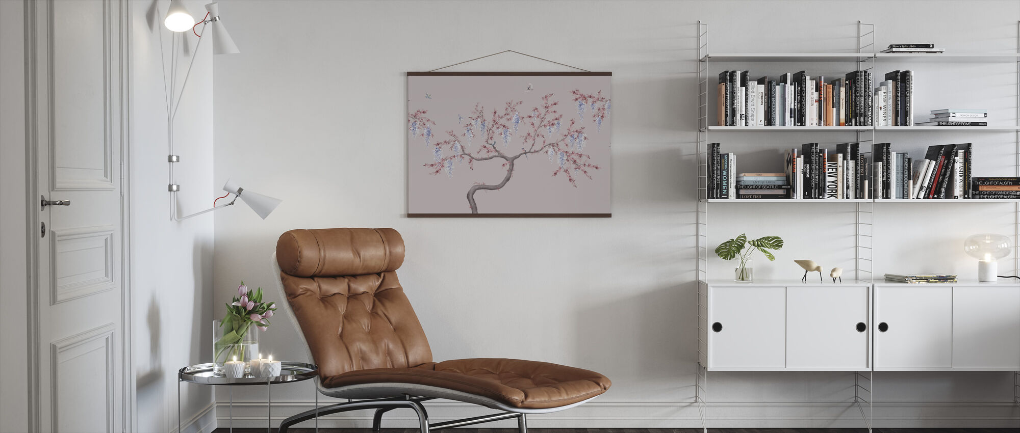 Ineffable Tree - Pink Blue - Poster - Living Room