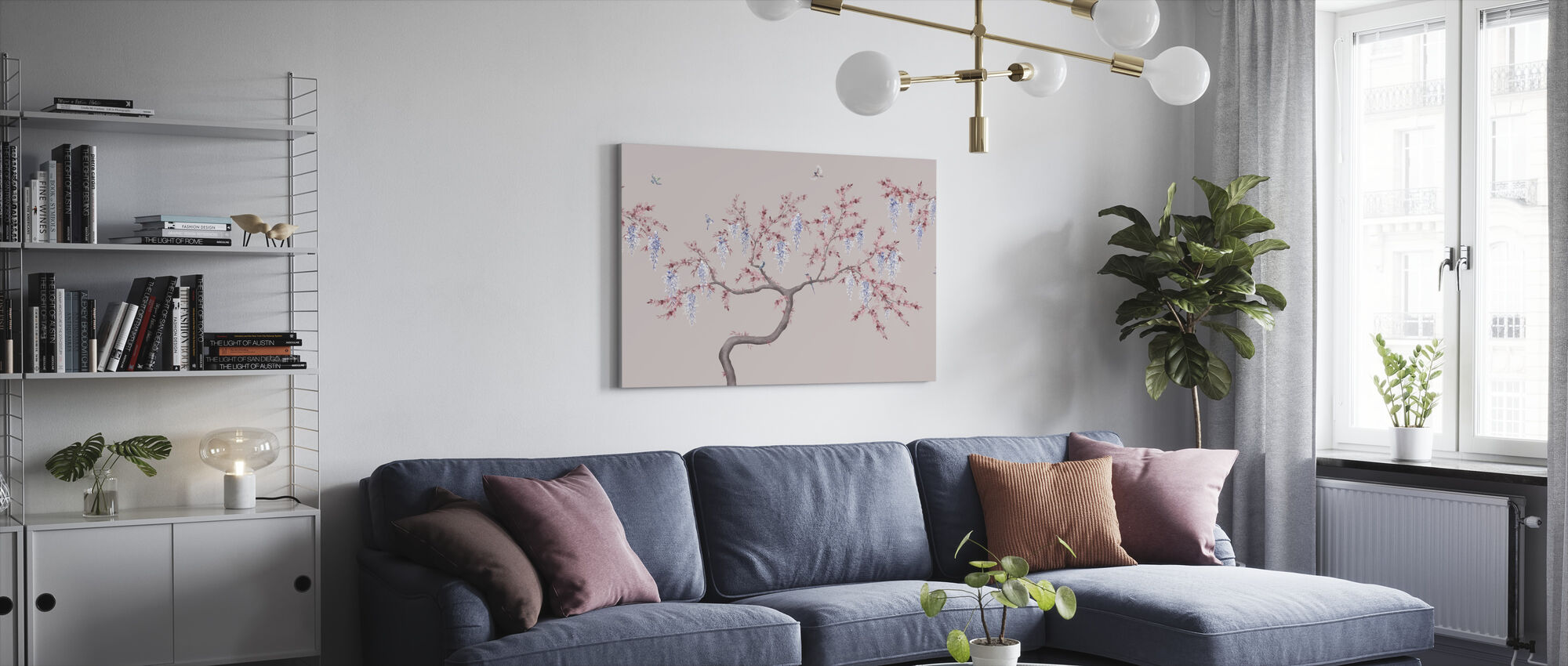 Ineffable Tree - Pink Blue - Canvas print - Living Room