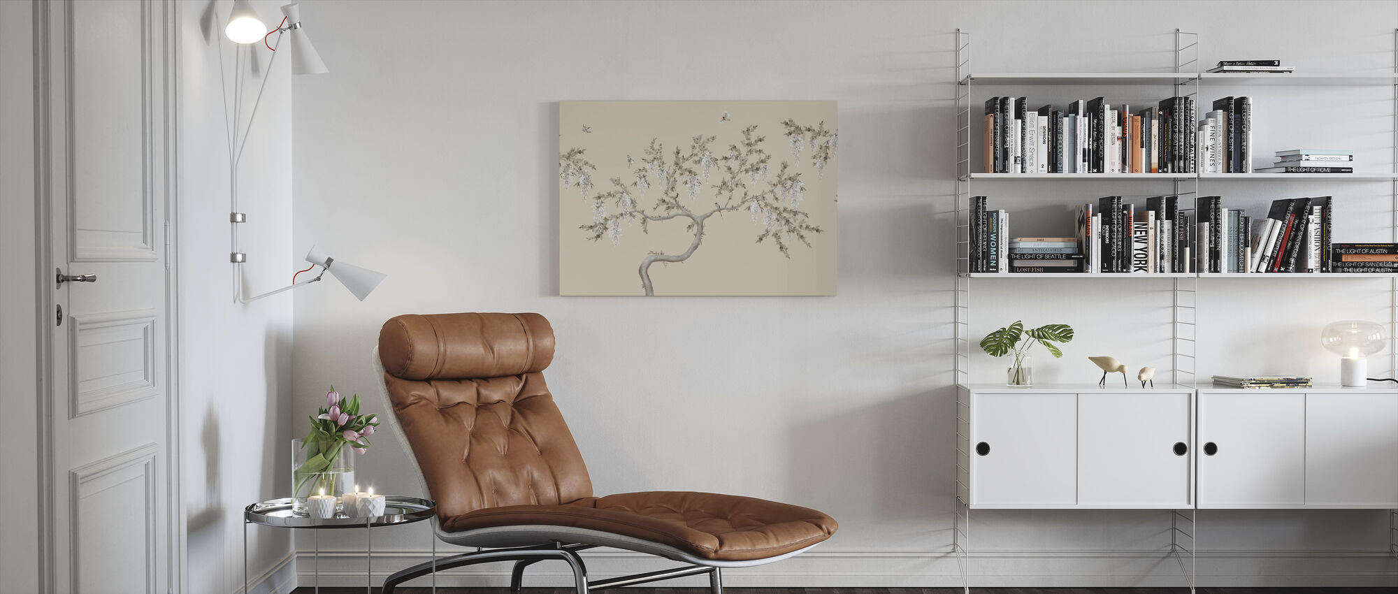 Ineffable Tree - Soft Beige - Canvas print - Living Room