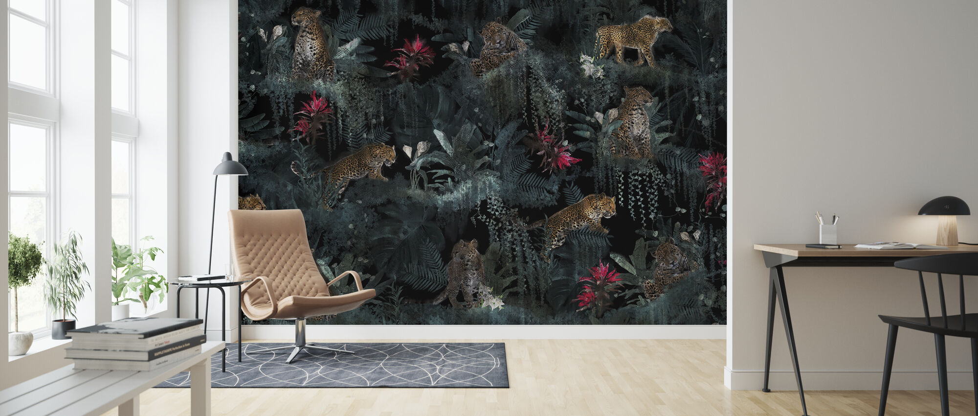 Lush Leopards - Wallpaper - Living Room