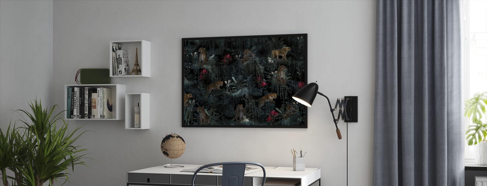 Lush Leopards - Framed print - Office