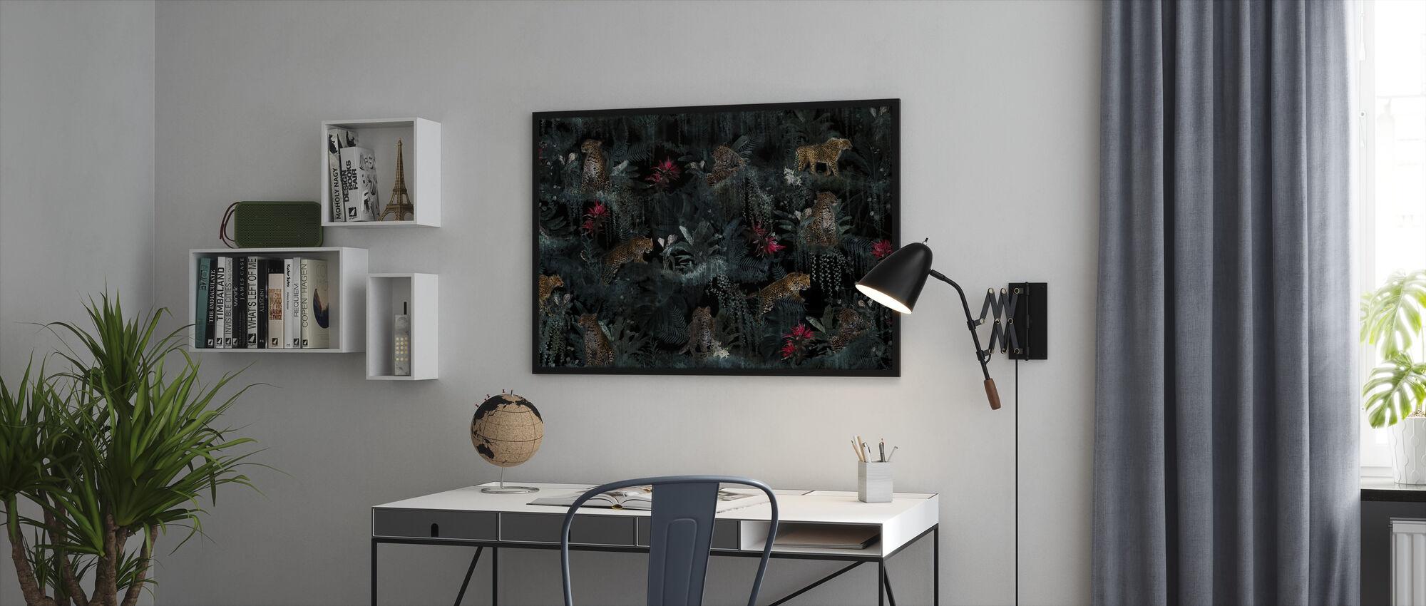 Weelderige Luipaarden - Ingelijste print - Kantoor
