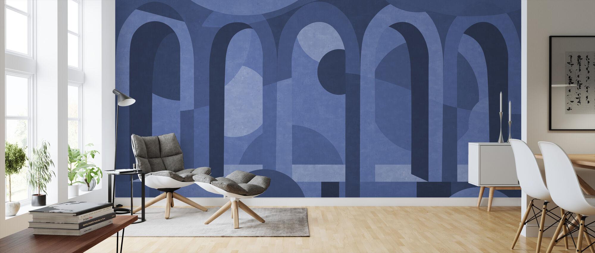 Archform - Schakeringen van Blauw - Behang - Woonkamer