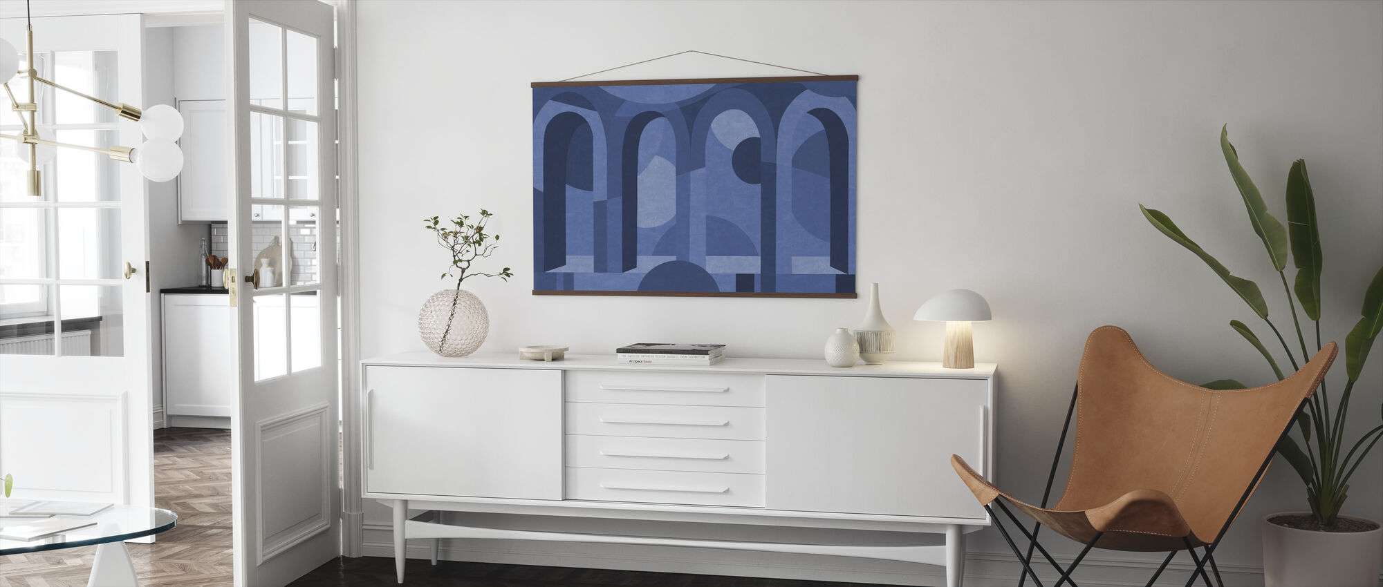 Archform - Shades of Blue - Poster - Living Room