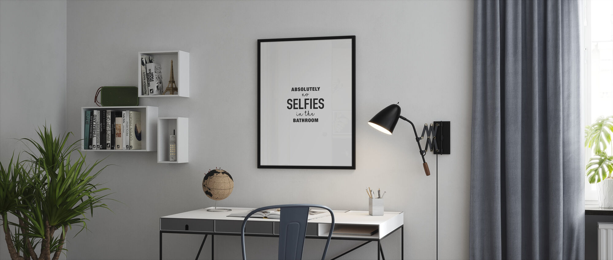 Absolutely no Selfies - Framed print - Office