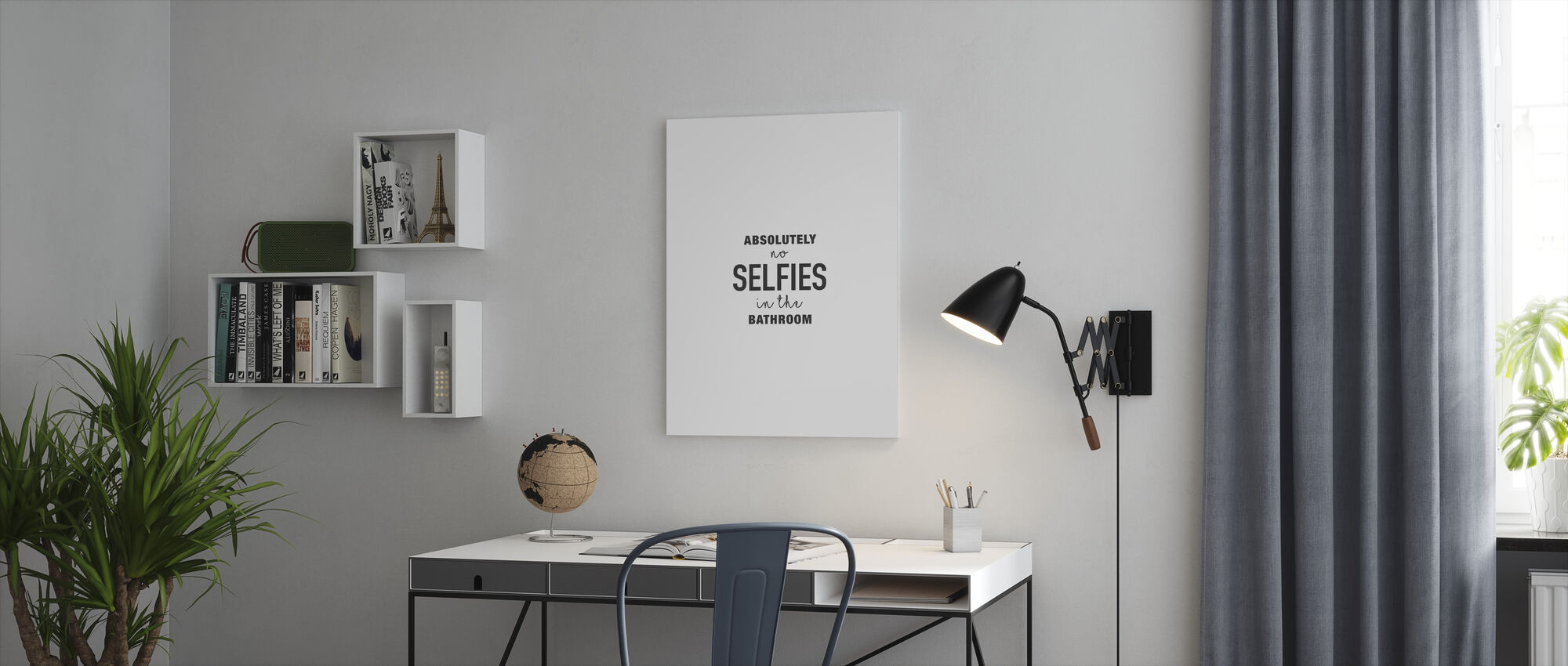 Absolutely no Selfies - Canvas print - Office