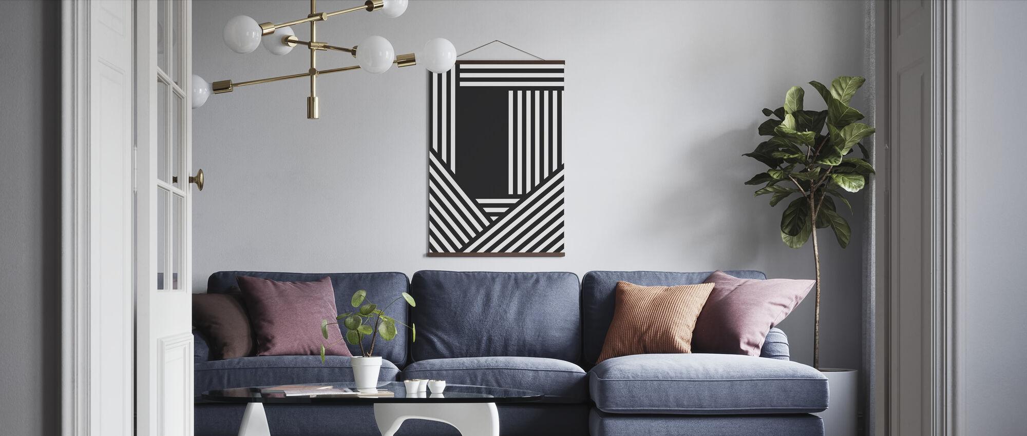 Stripy - Poster - Living Room