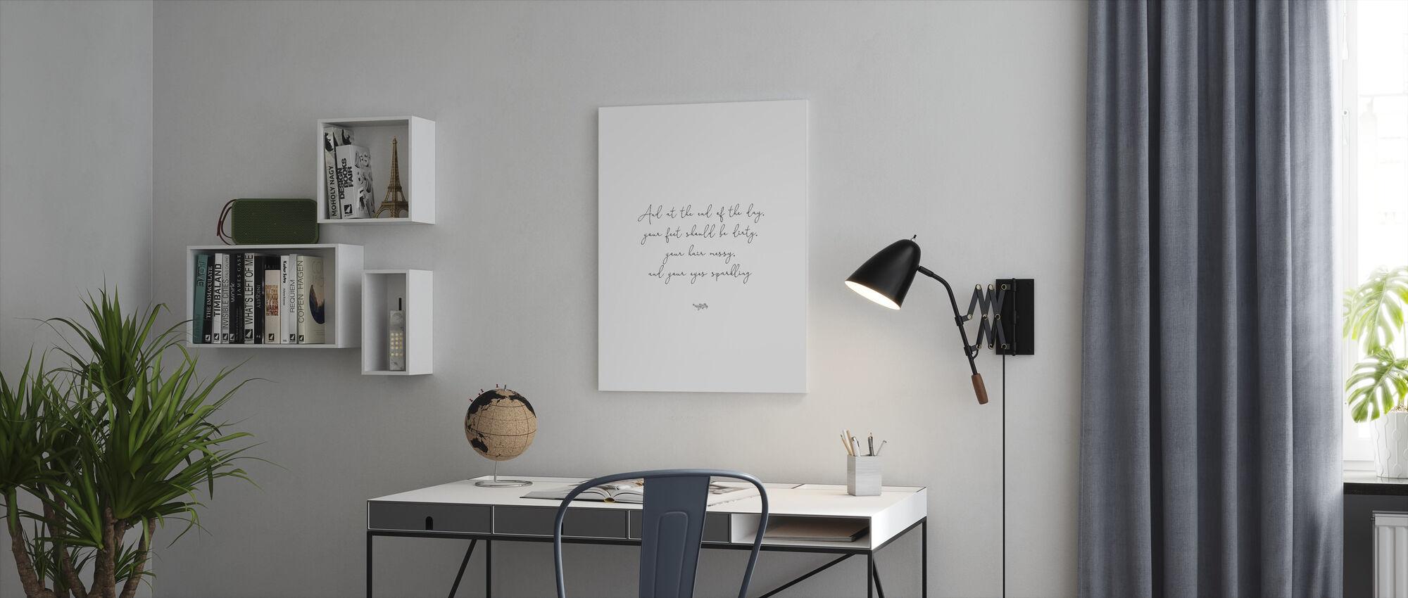 Vuile voetjes - Canvas print - Kantoor