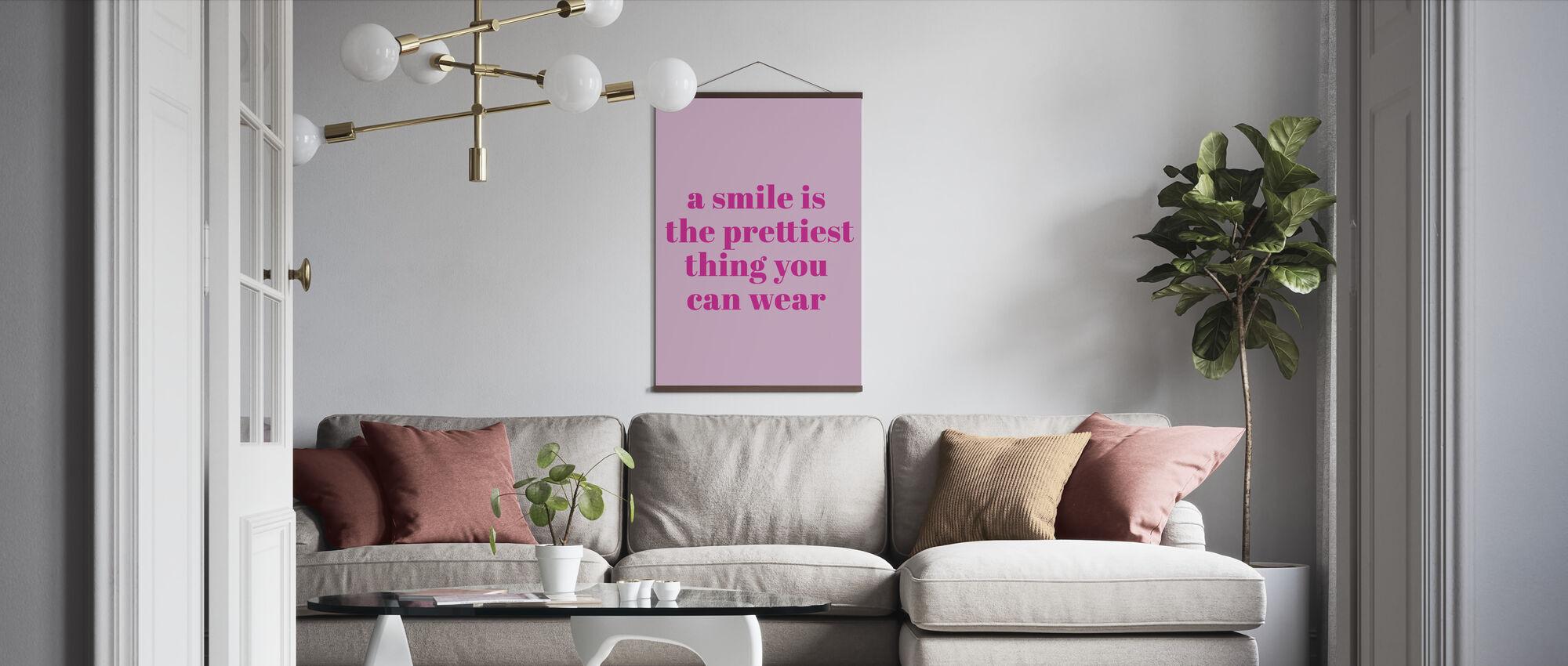Smile - Poster - Living Room