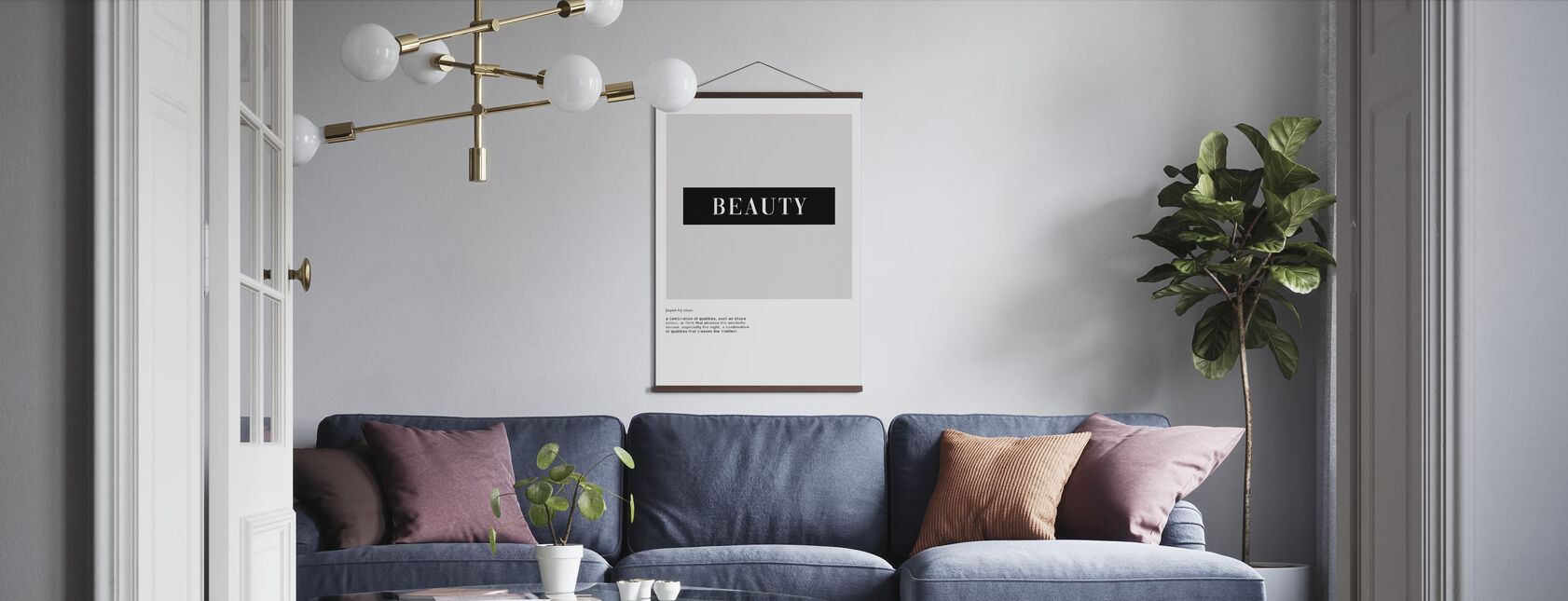 Beauty-Definition - Poster - Wohnzimmer