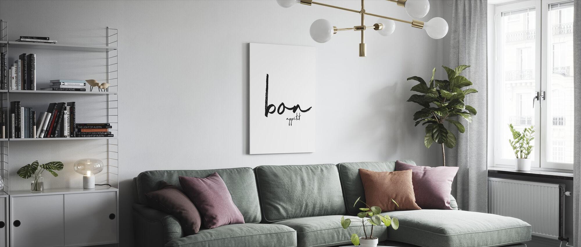 Bon Smakelijk - Canvas print - Woonkamer