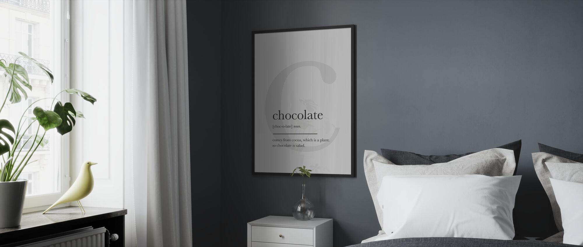 Chocolate - Framed print - Bedroom