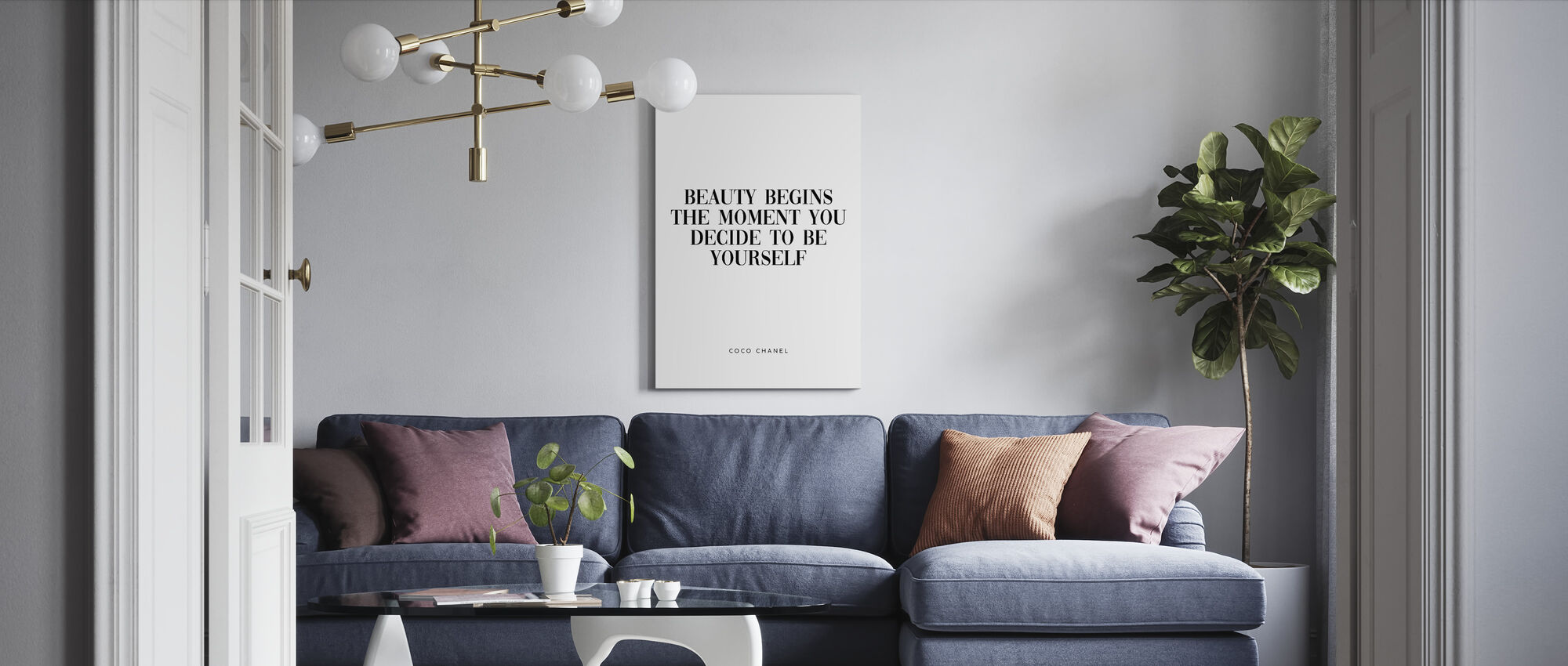 Coco Chanel Quote Order Your Canvas Print Online Photowall