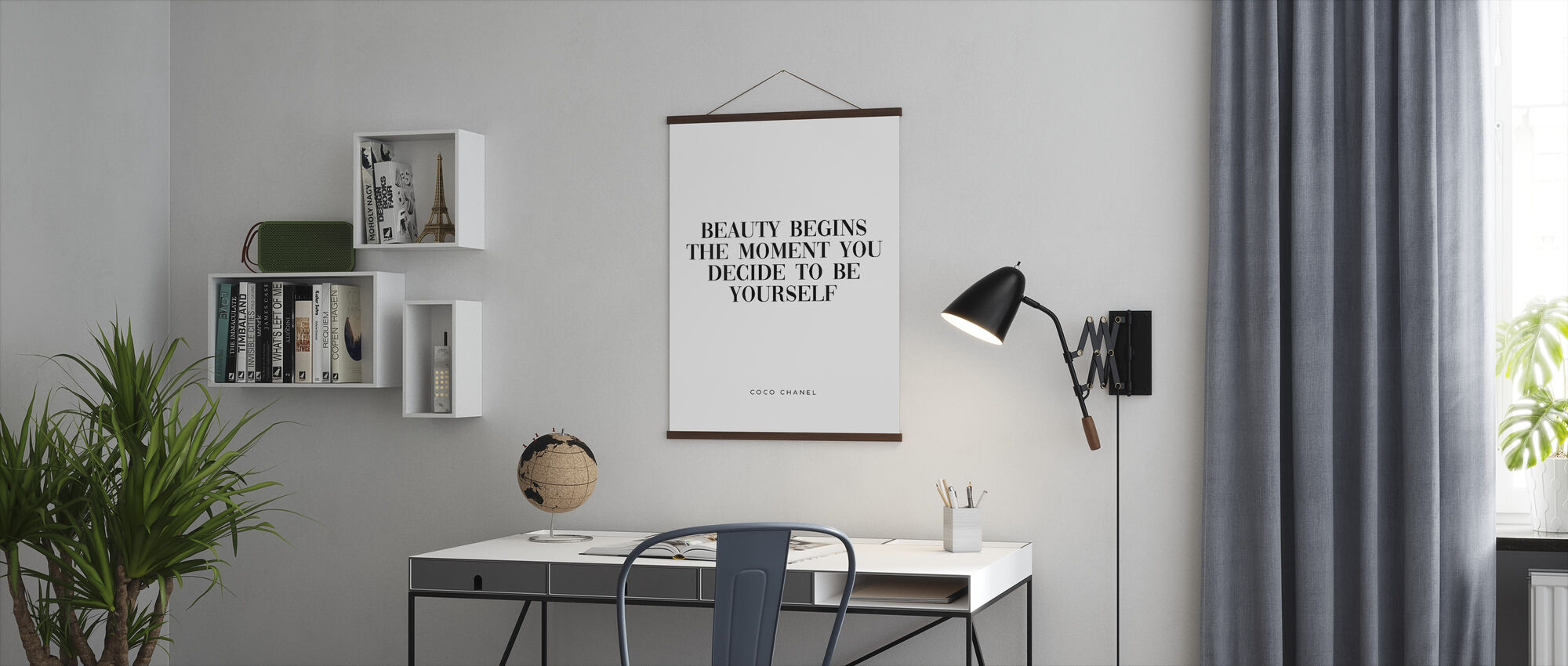 Coco Chanel Quote Style With A Poster Photowall