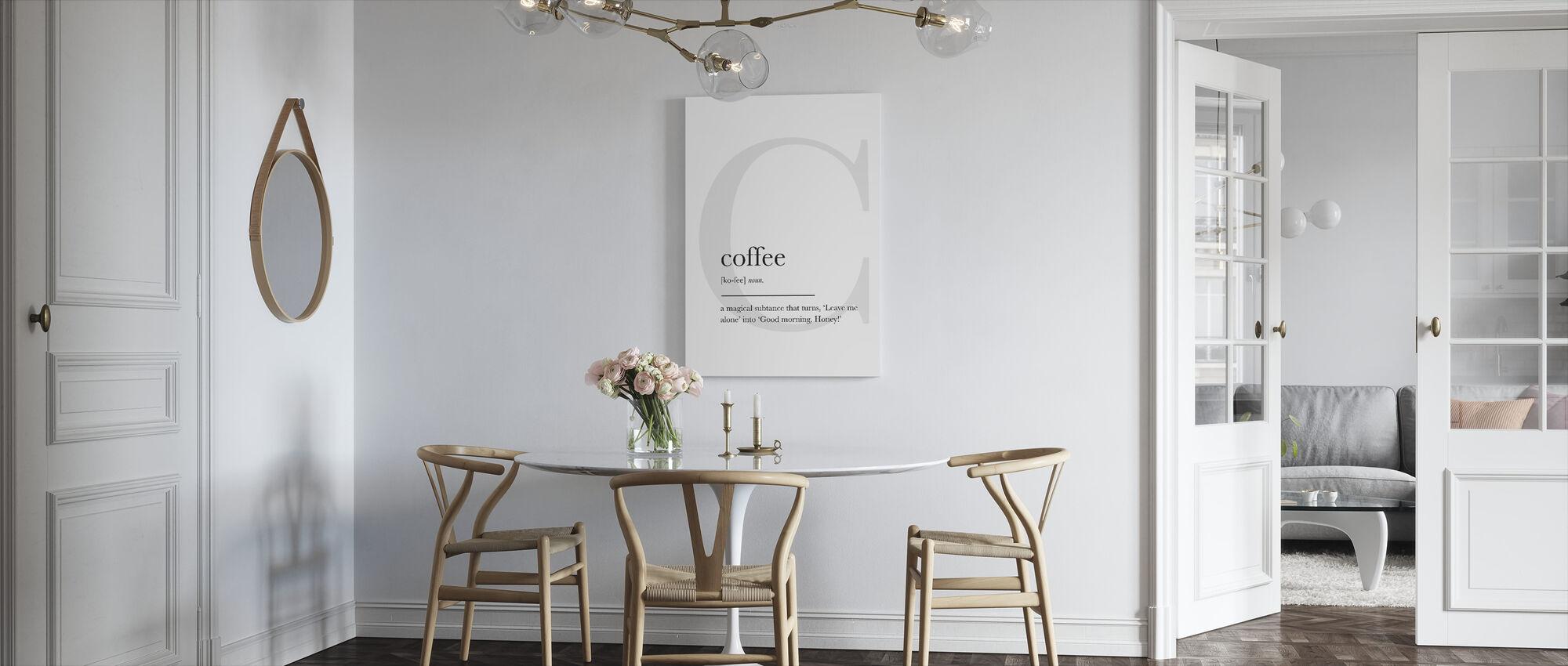 Koffie - Canvas print - Keuken