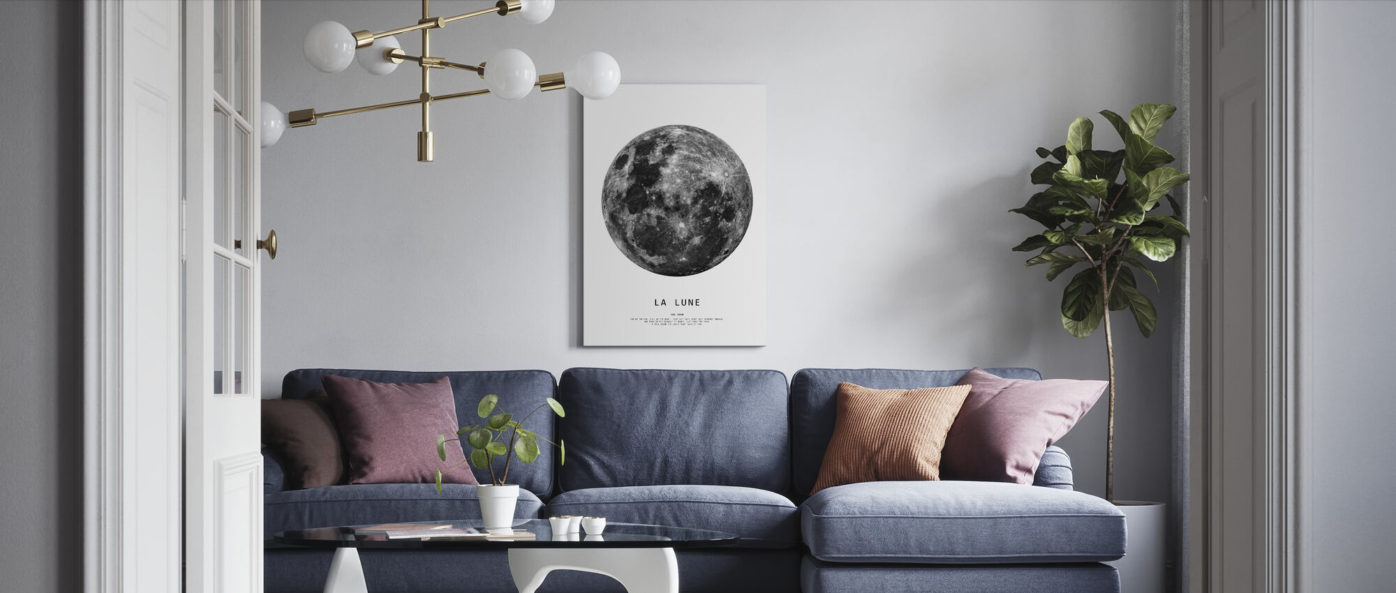 The Moon - Canvas print - Living Room