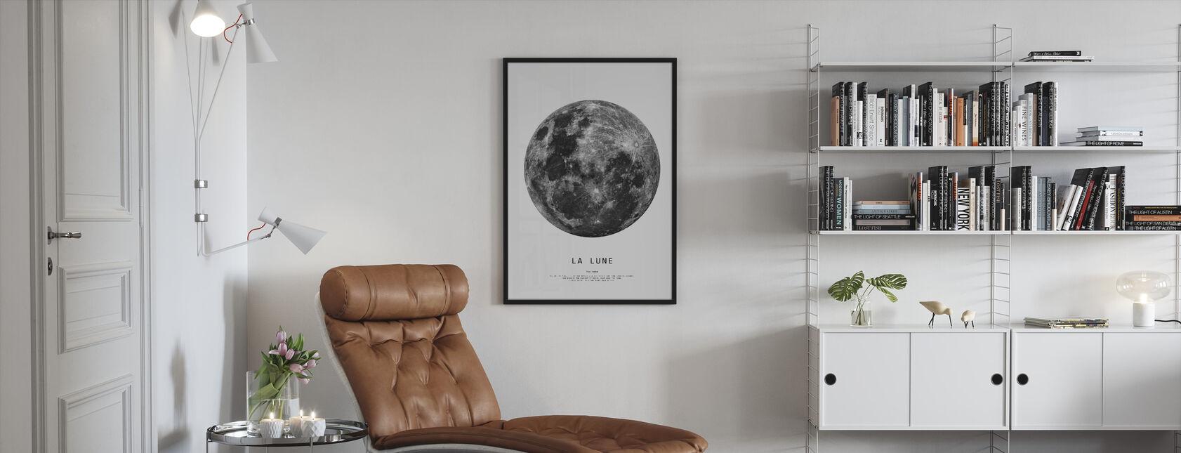 De maan - Ingelijste print - Woonkamer