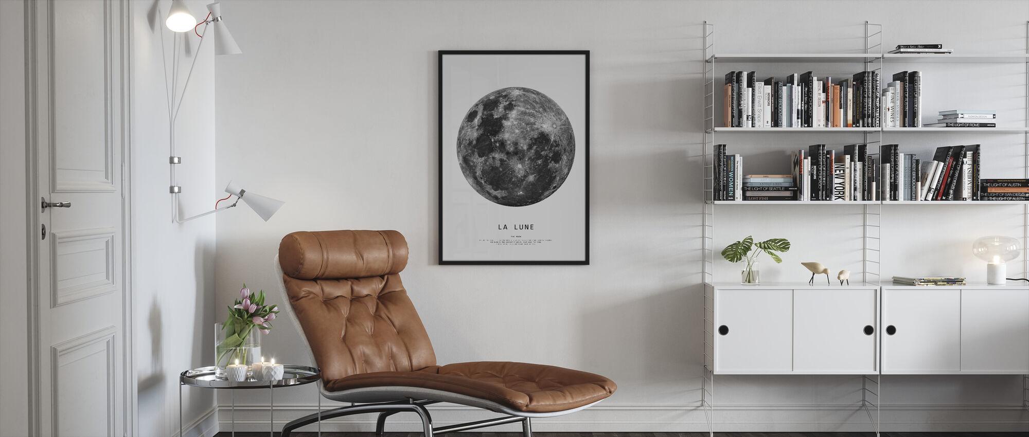 The Moon - Framed print - Living Room