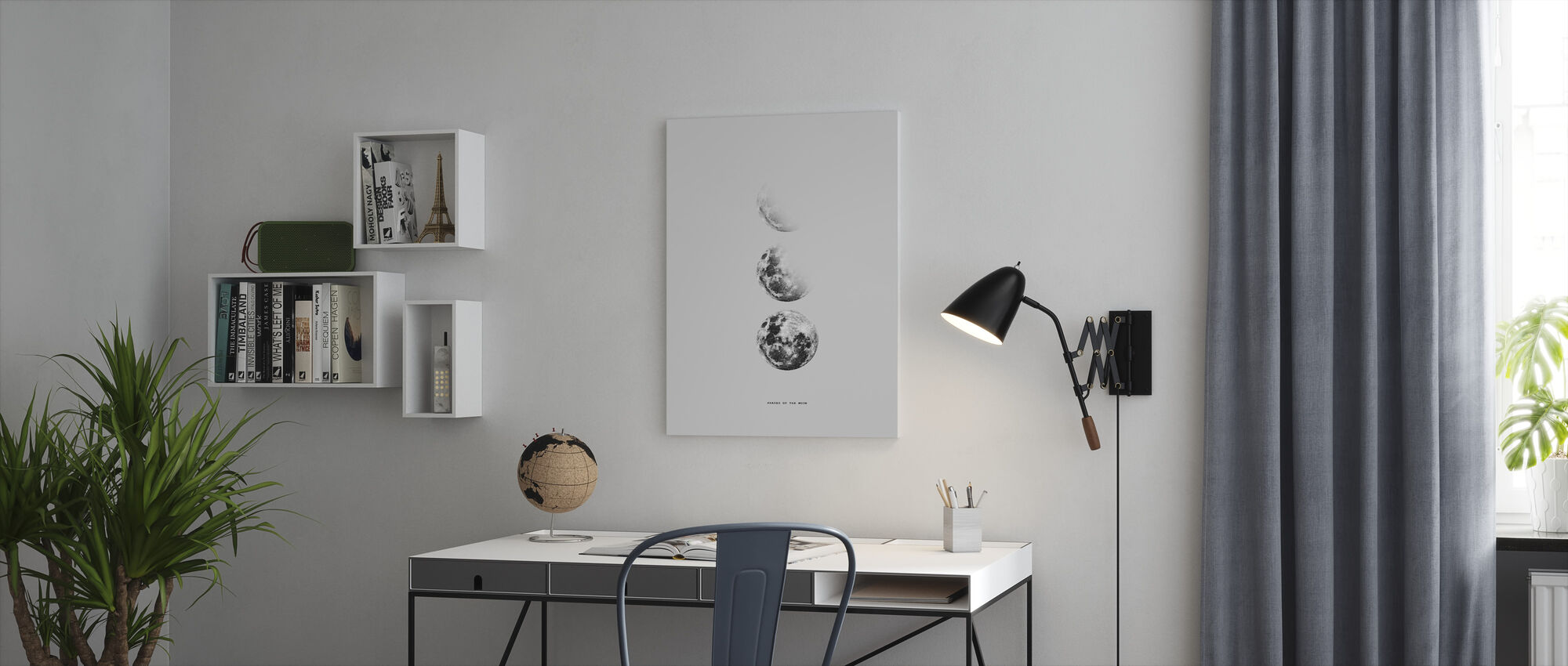 Phases of the Moon - Canvas print - Office