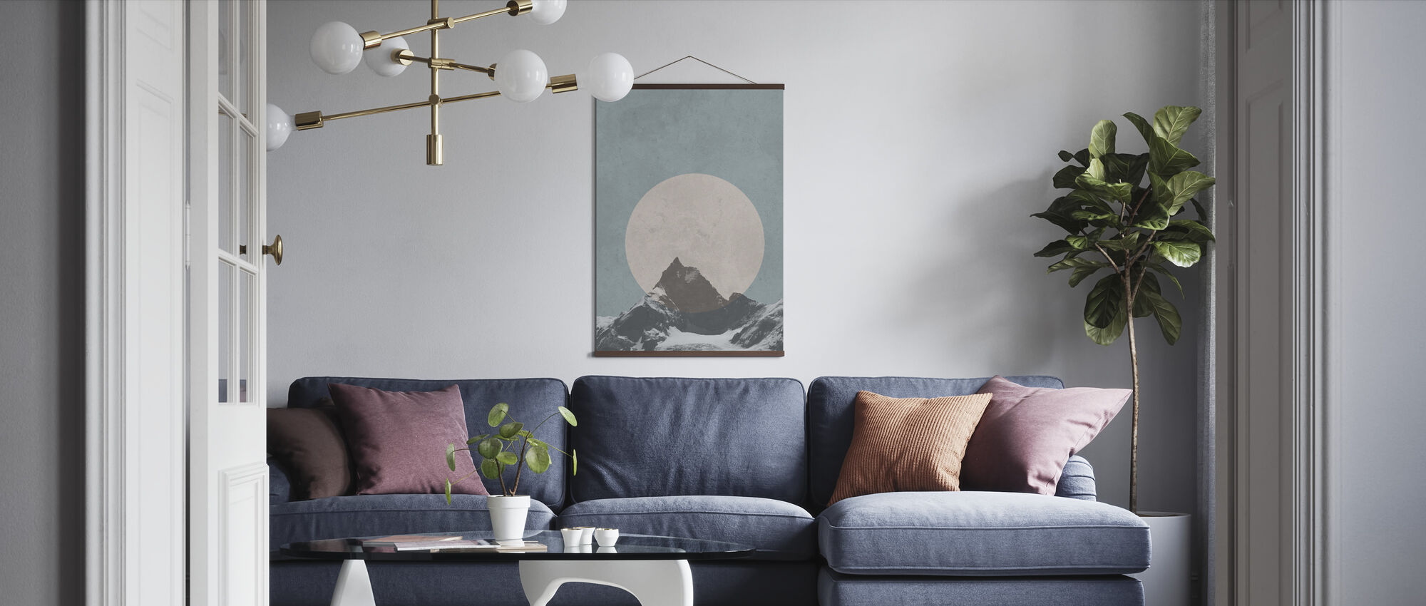 Mountain Touch - Poster - Living Room