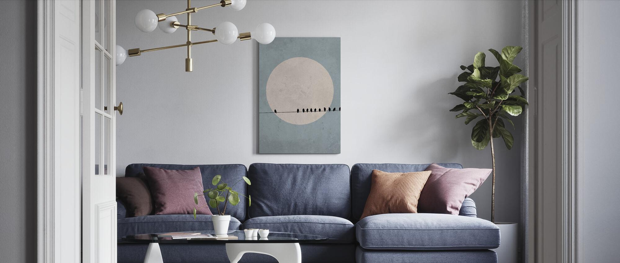 Moonbirds II - Canvas print - Living Room