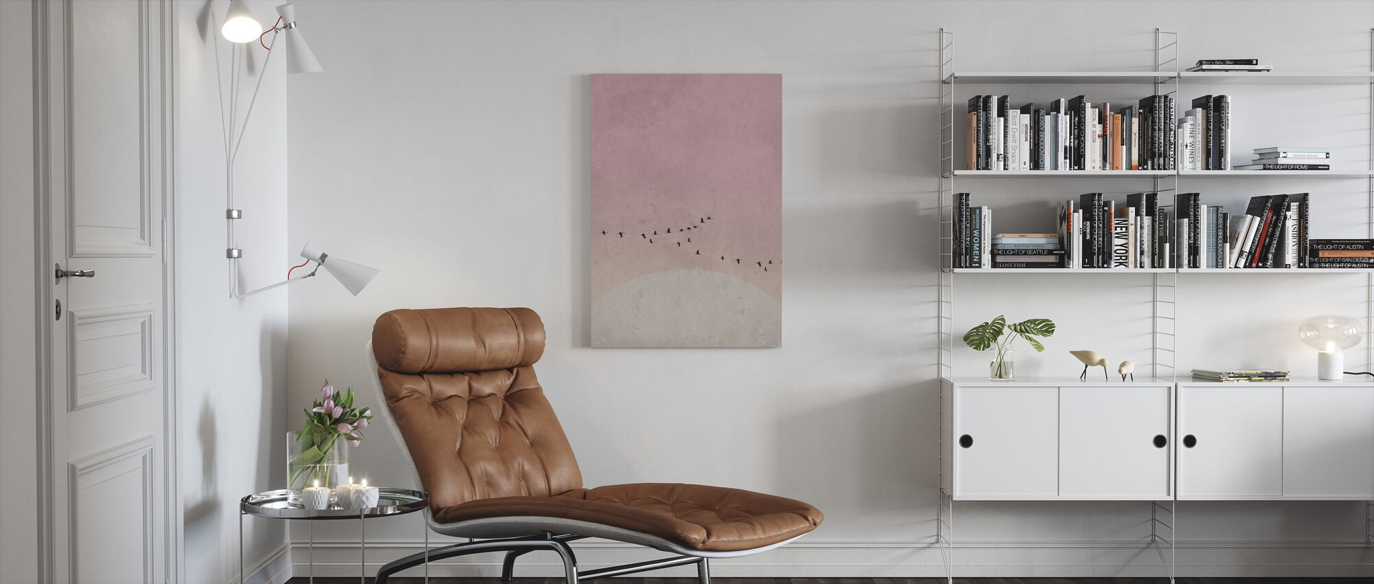 Moonbirds III - Canvas print - Living Room
