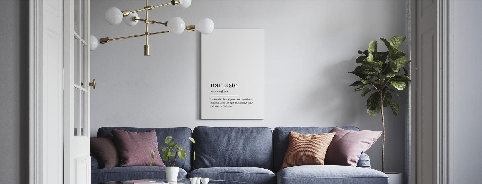 Namaste - Canvas print - Living Room