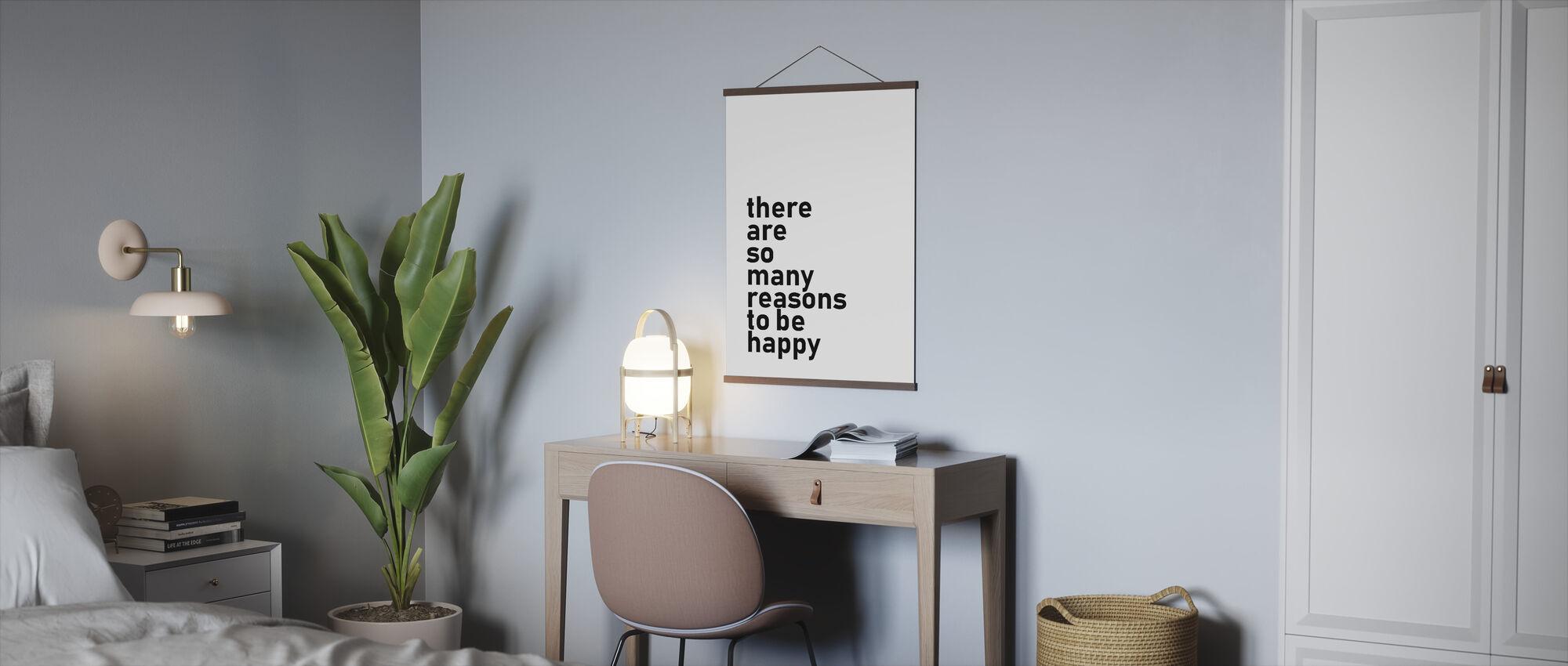Redenen om gelukkig te zijn - Poster - Kantoor