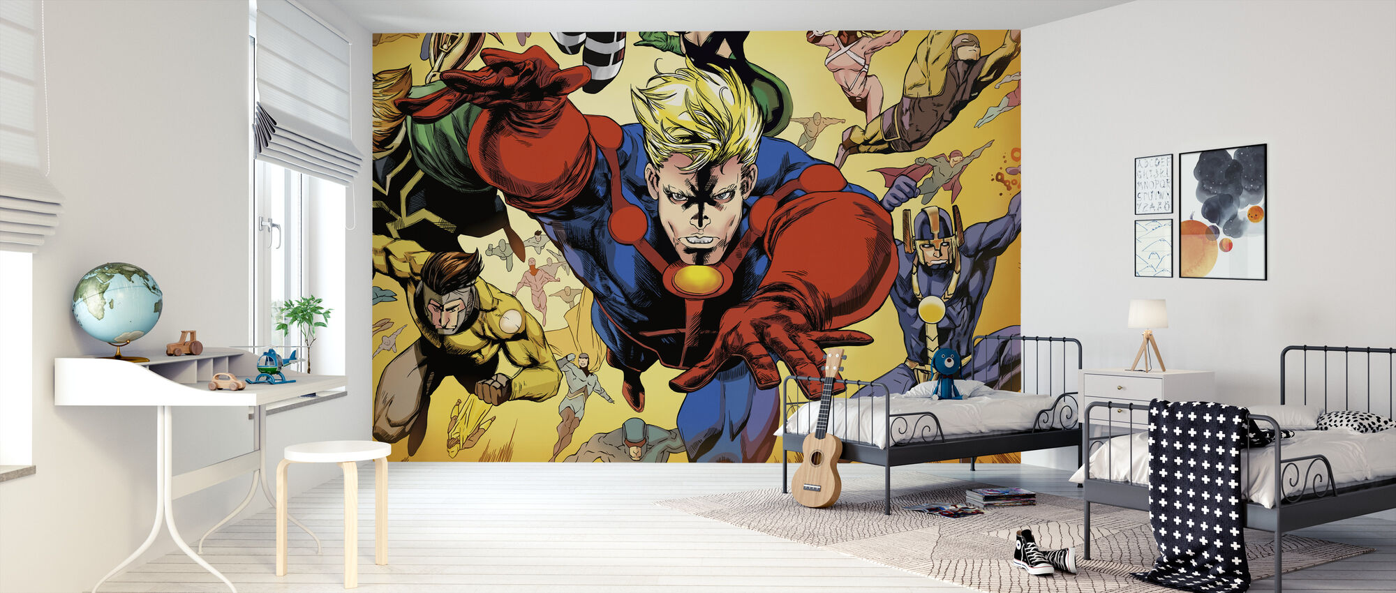 Superheros - Tapet - Børneværelse