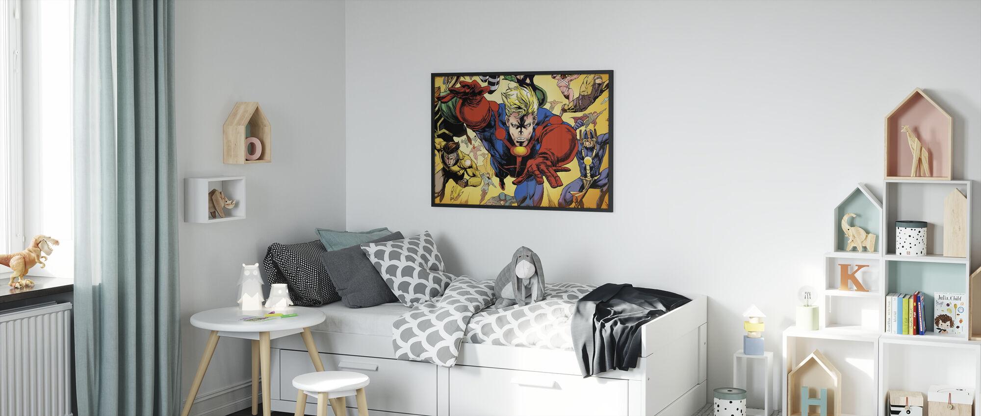 Superheros - Framed print - Kids Room