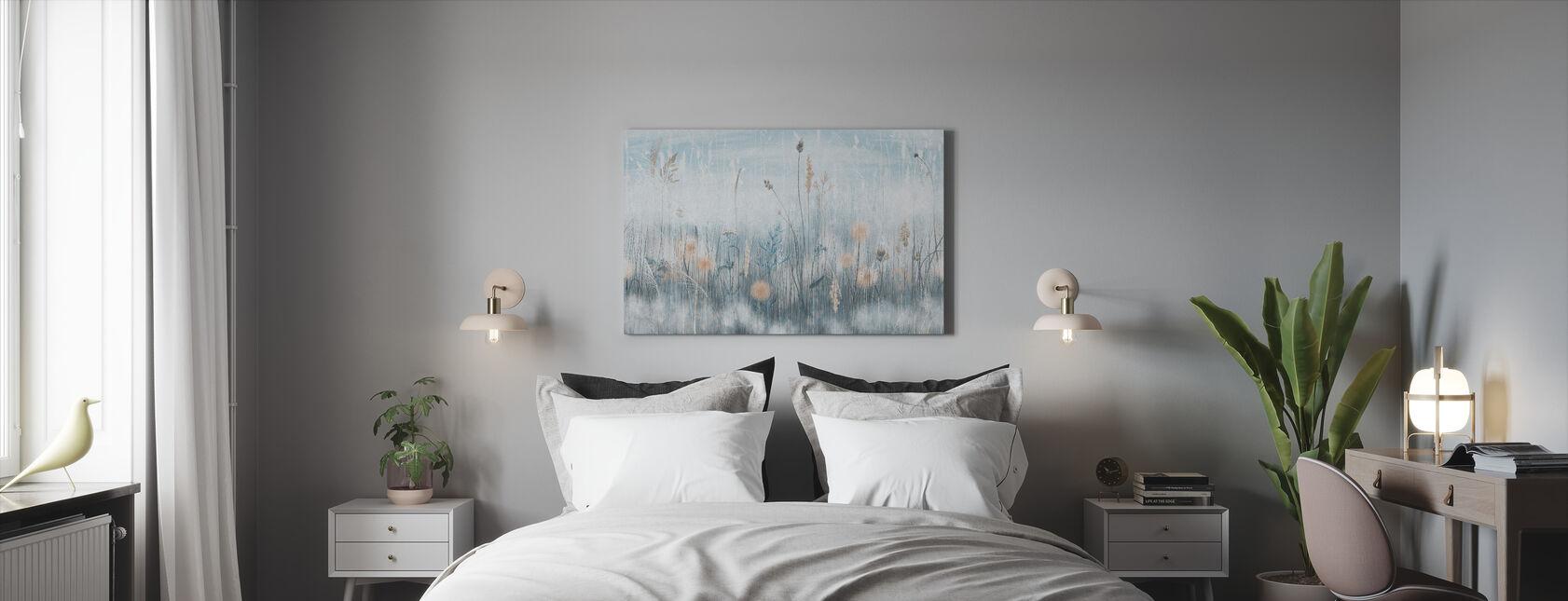 Grassy - Blue - Canvas print - Bedroom
