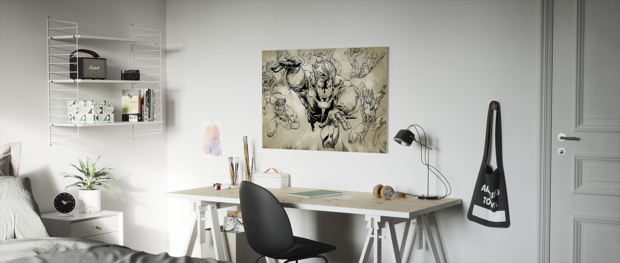 Superheros - Sepia - Canvas print - Kids Room
