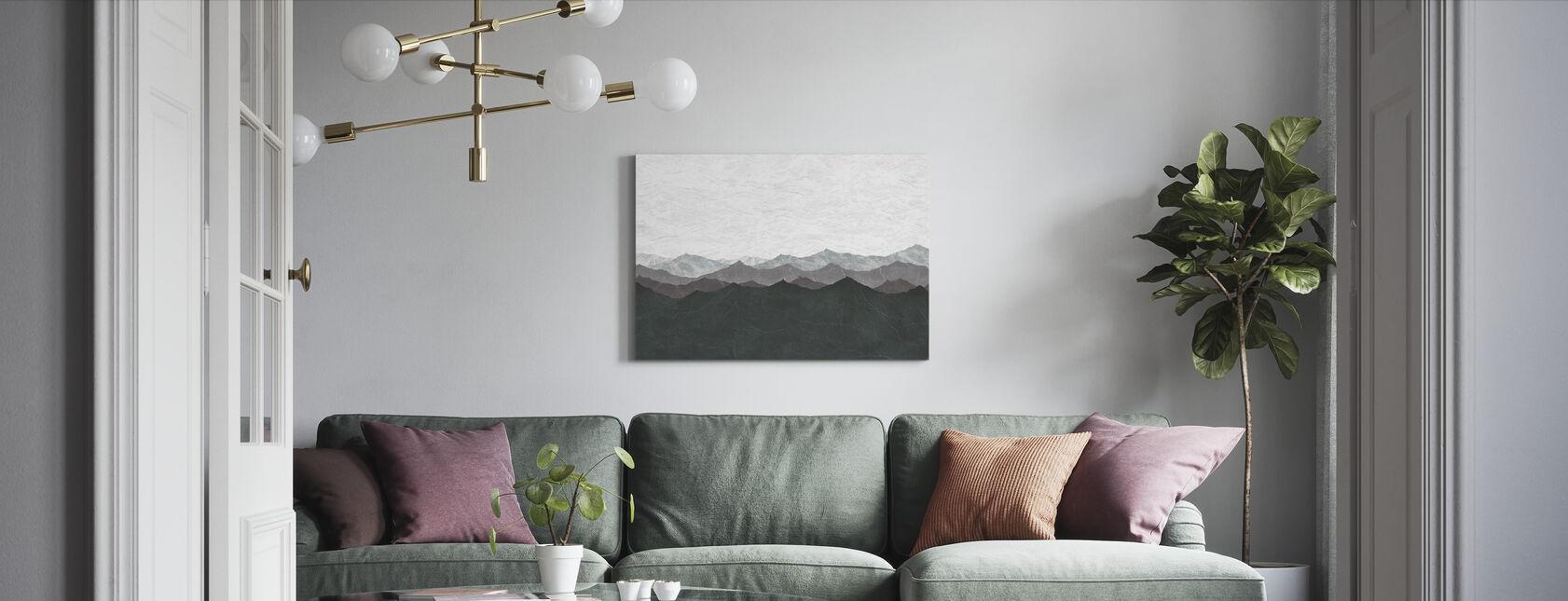 Berg - Canvastavla - Vardagsrum