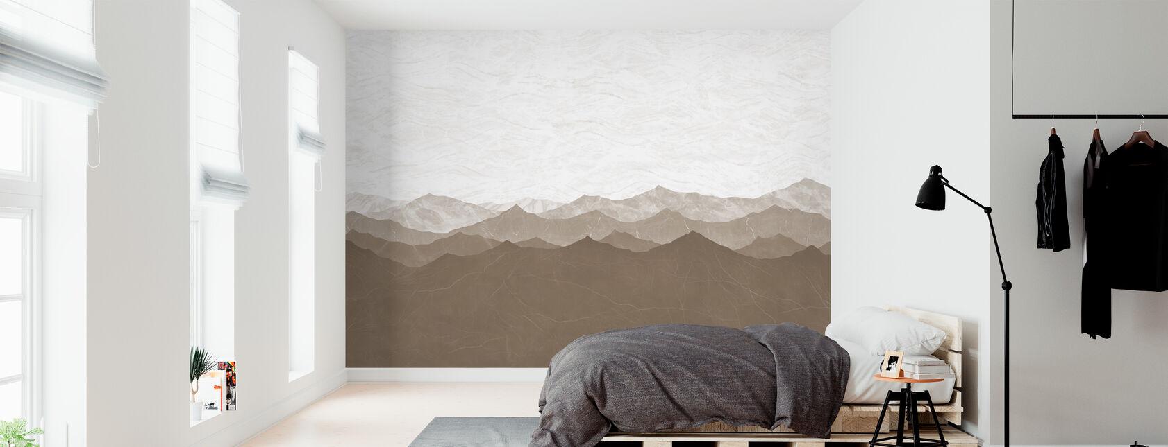 Montagne - Brown - Wallpaper - Bedroom