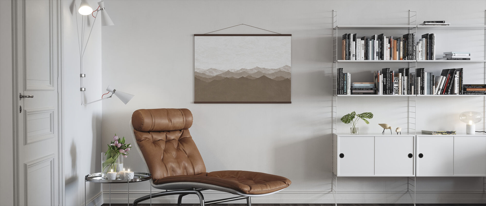 Montagne - Brown - Poster - Living Room
